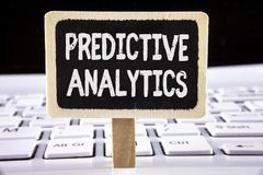 Word writing text Predictive Analytics. Business concept for Method to forecast Performance Statistical Analysis written on Wooden. Word writing text Predictive Royalty Free Stock Photos