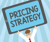Word writing text Pricing Strategy. Business concept for set maximize profitability for unit sold or market overall.  stock image
