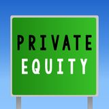 Word writing text Private Equity. Business concept for Capital that is not listed on a public exchange Investments.  stock illustration