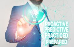 Free Word Writing Text Proactive Predictive Practiced Prepared. Business Concept For Preparation Strategies Management Male Stock Photo - 159641390