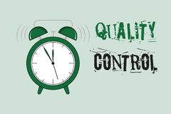 Word writing text Quality Control. Business concept for insure that product or service sold due to standards.  royalty free illustration