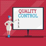 Word writing text Quality Control. Business concept for insure that product or service sold due to standards.  stock illustration