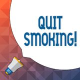 Word writing text Quit Smoking. Business concept for process of discontinuing tobacco and any other smokers Huge Blank royalty free illustration