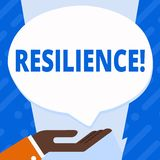 Word writing text Resilience. Business concept for Capacity to recover quickly from difficulties Persistence. Word writing text Resilience. Business concept for royalty free illustration