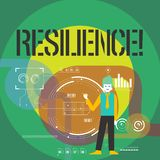 Word writing text Resilience. Business concept for Capacity to recover quickly from difficulties Persistence. Word writing text Resilience. Business concept for vector illustration