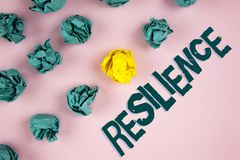 Word writing text Resilience. Business concept for Capacity to recover quickly from difficulties Persistence written on plain Pink. Word writing text Resilience Stock Photo