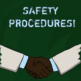 Word writing text Safety Procedures. Business concept for Follow rules and regulations for workplace security. Word writing text Safety Procedures. Business royalty free illustration
