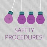 Word writing text Safety Procedures. Business concept for Follow rules and regulations for workplace security Color. Word writing text Safety Procedures vector illustration