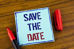 Word writing text Save The Date. Business concept for Organizing events well make day special by event organizers written on Stick. Word writing text Save The Stock Photo
