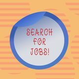 Word writing text Search For Jobs. Business concept for Unemployed looking for new opportunities Headhunting Bottle. Packaging Blank Lid Carton Container Easy vector illustration