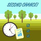 Word writing text Second Chance. Business concept for opportunity to try something again after failing one time Layout. Word writing text Second Chance. Business vector illustration