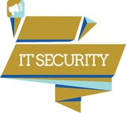 Word writing text It Security. Business concept for Protection of internet connected systems from cyber attacks vector illustration