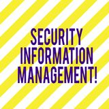 Word writing text Security Information Management. Business concept for Collecting and analyzing security data logs Diagonal. Twotone Lines photo Forming stock photography