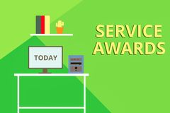 Free Word Writing Text Service Awards. Business Concept For Recognizing An Employee For His Or Her Longevity Or Tenure Stock Image - 157535621