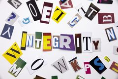 A word writing text showing concept of INTERGITY made of different magazine newspaper letter for Business case on the white backgr Royalty Free Stock Photography