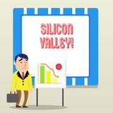Word writing text Silicon Valley. Business concept for home to analysisy startup and global technology companies. vector illustration