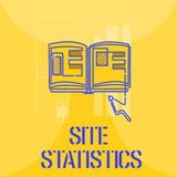 Word writing text Site Statistics. Business concept for measurement of behavior of visitors to certain website.  royalty free illustration