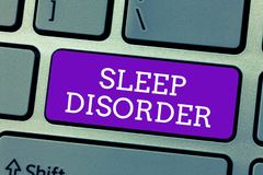 Word writing text Sleep Disorder. Business concept for problems with the quality, timing and amount of sleep.  royalty free stock images