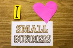 Word writing text Small Business. Business concept for Little Shop Starting Industry Entrepreneur Studio Store written on Sticky N. Word writing text Small Royalty Free Stock Photos