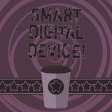Word writing text Smart Digital Device. Business concept for equipment that has a computer or microcontroller 3D Coffee stock illustration