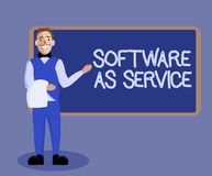 Word writing text Software As Service. Business concept for On Demand licensed on Subscription and centrally hosted.  royalty free illustration