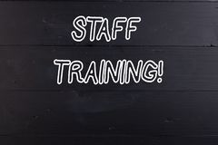 Word writing text Staff Training. Business concept for learn specific knowledge improve perforanalysisce in current. Word writing text Staff Training. Business stock photo