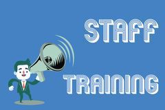Word writing text Staff Training. Business concept for A program that helps employees to learn specific knowledge.  Royalty Free Illustration