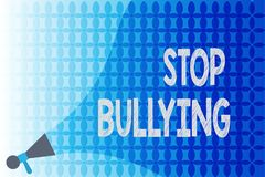 Word writing text Stop Bullying. Business concept for Fight and Eliminate this Aggressive Unacceptable Behavior.  vector illustration