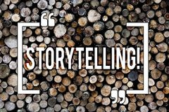 Word writing text Storytelling. Business concept for Tell short Stories Personal Experiences Wooden background vintage. Word writing text Storytelling. Business stock photos