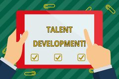 Word writing text Talent Development. Business concept for anticipation of required huanalysis capital for organization royalty free stock image