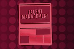 Word writing text Talent Management. Business concept for Acquiring hiring and retaining talented employees.  Stock Illustration