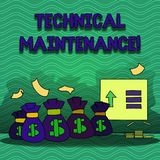 Word writing text Technical Maintenance. Business concept for Functional checks or replacing of necessary devices. Word writing text Technical Maintenance royalty free illustration