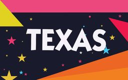 Word writing text Texas. Business concept for based on Caddo word taysha meaning friends and its located in us vector illustration