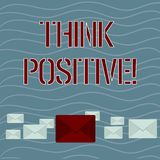 Word writing text Think Positive. Business concept for to believe that you are going to be succeed in your goal Pastel. Word writing text Think Positive stock illustration