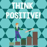 Word writing text Think Positive. Business concept for to believe that you are going to be succeed in your goal Smiling. Word writing text Think Positive stock illustration