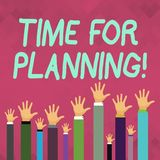 Word writing text Time For Planning. Business concept for exercising conscious control spent on specific activities. Word writing text Time For Planning royalty free illustration