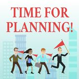 Word writing text Time For Planning. Business concept for exercising conscious control spent on specific activities. Word writing text Time For Planning vector illustration