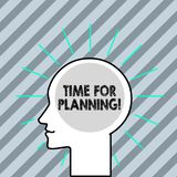 Word writing text Time For Planning. Business concept for exercising conscious control spent on specific activities. Word writing text Time For Planning stock illustration