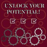 Word writing text Unlock Your Potential. Business concept for release possibilities Education and training is key stock illustration