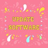 Word writing text Update Software. Business concept for replacing program with a newer version of same product Copy. Word writing text Update Software. Business royalty free illustration