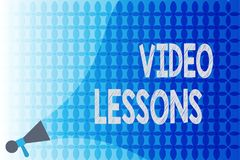 Word writing text Video Lessons. Business concept for Online Education material for a topic Viewing and learning.  Stock Illustration