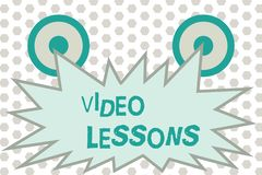 Word writing text Video Lessons. Business concept for Online Education material for a topic Viewing and learning.  Royalty Free Illustration