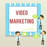 Word writing text Video Marketing. Business concept for create short videos about specific topics using articles. Word writing text Video Marketing. Business stock illustration