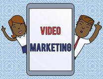 Word writing text Video Marketing. Business concept for create short videos about specific topics using articles Male. Word writing text Video Marketing stock illustration
