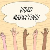 Word writing text Video Marketing. Business concept for Media Advertising Multimedia Promotion Digital Strategy. Word writing text Video Marketing. Business stock illustration