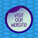 Word writing text Visit Our Website. Business concept for go through site url in internet browser to see content Bottle