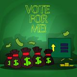 Word writing text Vote For Me. Business concept for Campaigning for a government position in the upcoming election. Word writing text Vote For Me. Business stock illustration