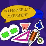 Word writing text Vulnerability Assessment. Business concept for defining identifying prioritizing vulnerabilities Two