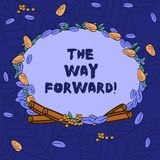 Word writing text The Way Forward. Business concept for Direction to keep going with success Motion strategy Wreath Made royalty free illustration