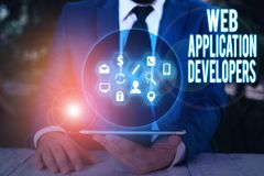 Word writing text Web Application Developers. Business concept for Internet programming experts Technology software.